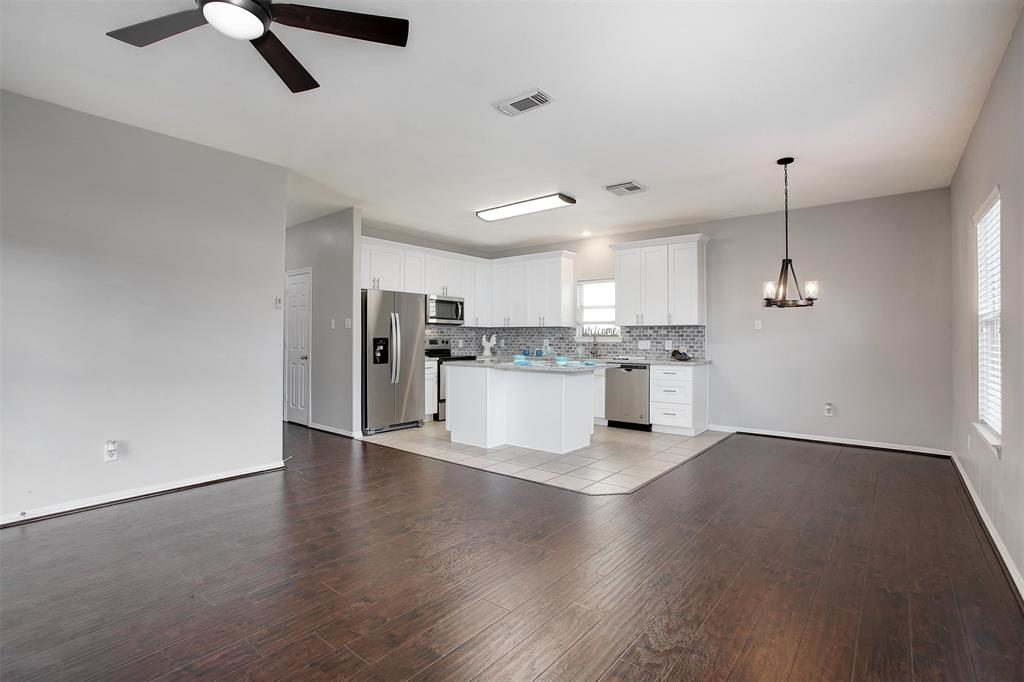 open floor plan ready for friends