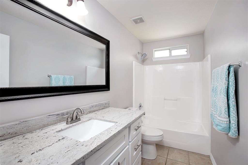 remodeled bath granite counters