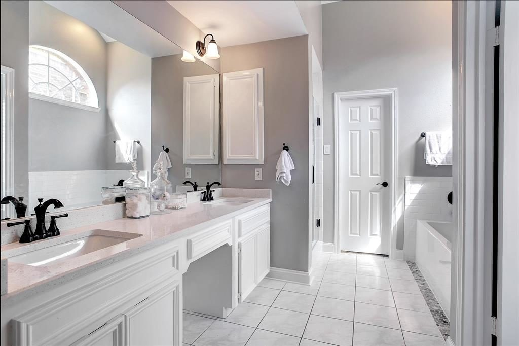 remodeled master bathroom