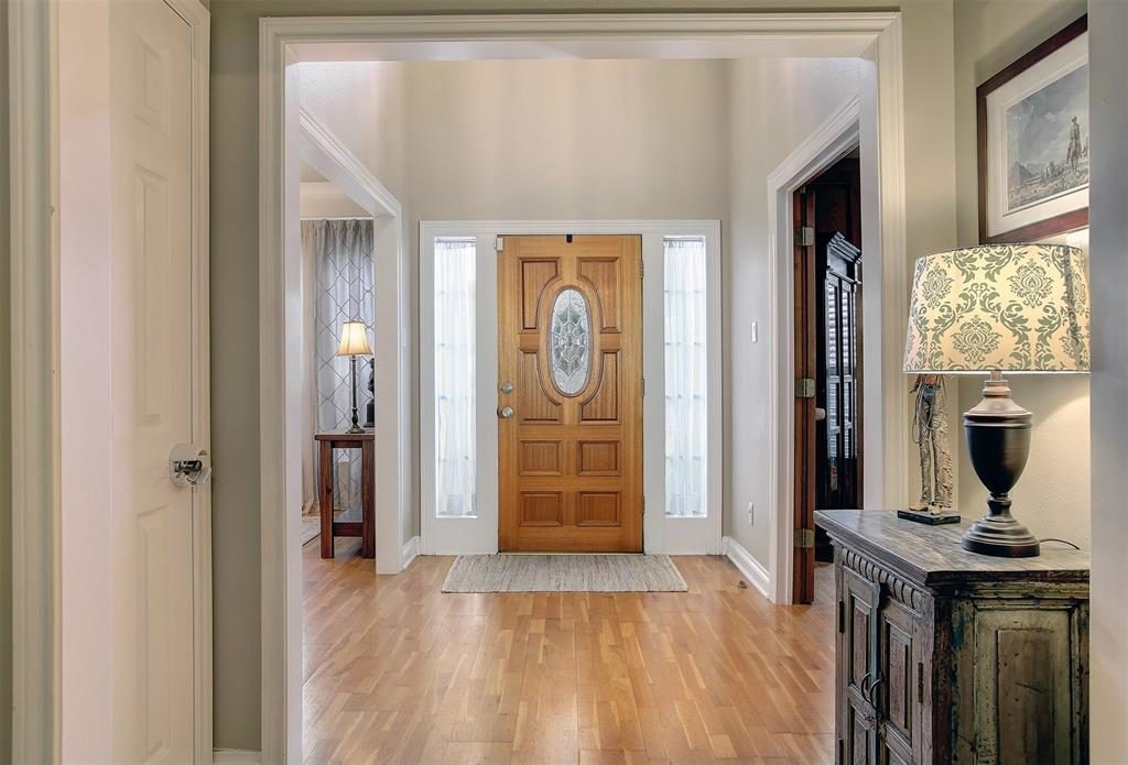 beautiful entry flowing floor plan